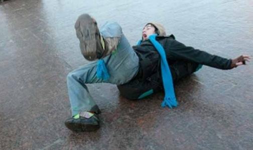 Петербуржцы страдают из-за гололеда