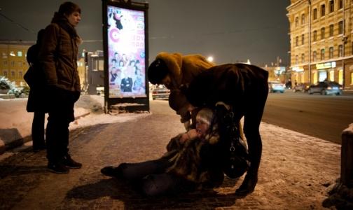 Гололед: петербуржцы ломают руки, ноги, суставы