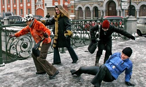 151 петербуржец получил травмы из-за гололеда на новогодних каникулах