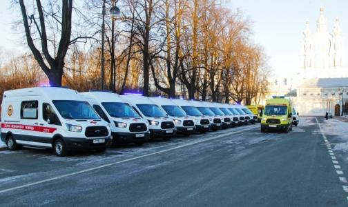 Губернатору Петербурга показали полторы сотни новых «Скорых»