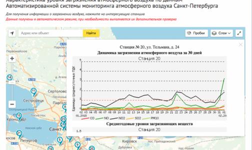 В Петербурге резко повысилась концентрация оксида и диоксида азота