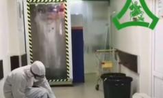 В больнице святого Георгия показали свой тоннель дезинфекции для врачей