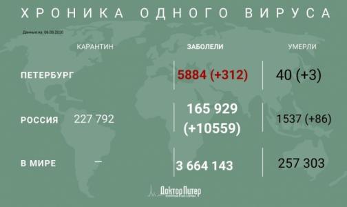 За сутки в России выявлено 10559 заболевших коронавирусной инфекцией