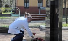 В Педиатрическом университете воздвигли памятник сотрудникам и студентам, погибшим в годы войны