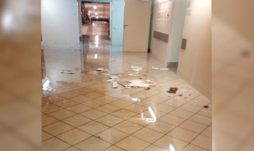 Видео: В Петербурге затопило больницу им. Боткина, в которой лечатся пациенты с COVID-19