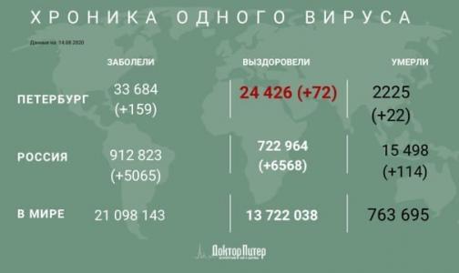 Петербург занял второе место в суточной статистике по заболеваемости коронавирусом