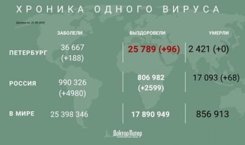 За сутки почти у пяти тысяч россиян выявили коронавирус