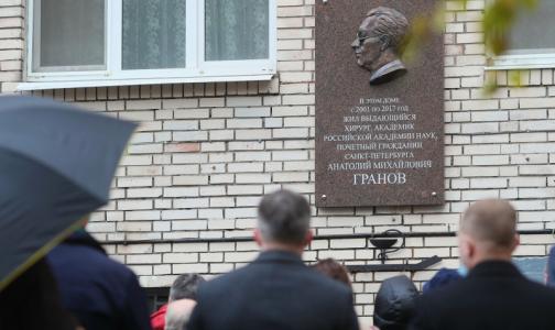 В Петербурге установили мемориальную доску в честь известного хирурга Анатолия Гранова