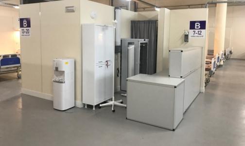 В «Ленэкспо» возобновил работу еще один павильон — для пациентов с коронавирусом в легкой форме