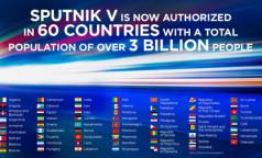 """""""Спутник"""" шагает по планете: производство вакцины начинают еще три страны, одобрили ее 60 государств, где живет 40% населения Земли"""