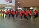 Фоторепортаж: «На Московском вокзале в Петербурге пассажирам измеряли давление »