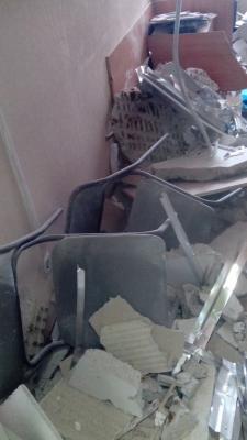 В медсанчасти № 70 во время врачебного приема обрушился потолок