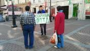Петербуржцы с туберкулезом добрались до комитета по здравоохранению: Фоторепортаж