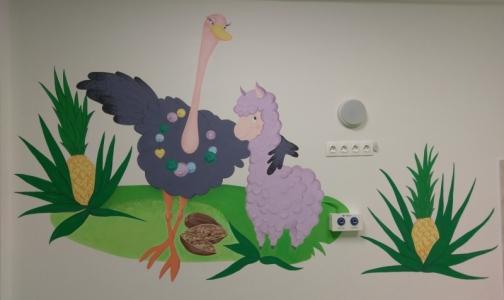 Детскую городскую больницу №1 населили сказочными персонажами из Африки