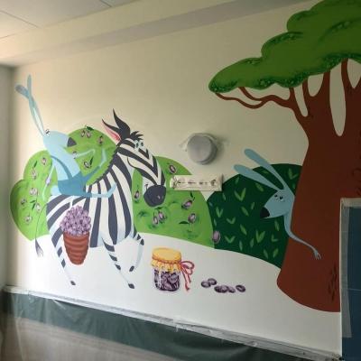 Детскую городскую больницу №1 населили сказочными персонажами Африки