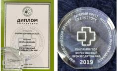 ФАРМАКОР ПРОДАКШН стал компанией года – производителем БАД 2019