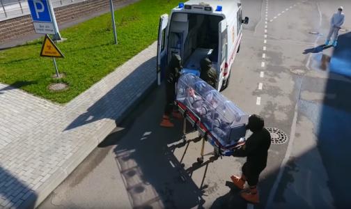 В Боткинской больнице показали видео, как принимают пациентов с подозрением на опасные инфекции